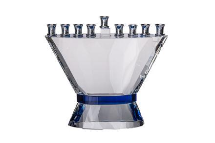 Picture of #152 Blue Belt Crystal Menorah