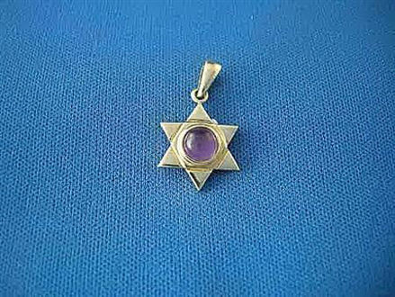 Picture of #G1014 Amethyst Star of David