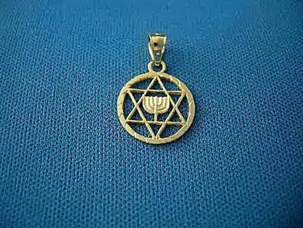 Picture of #G125 Medallion with Menorah