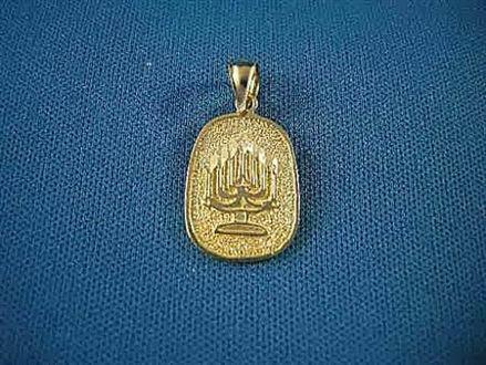 Picture of #G183 Menorah Medallion