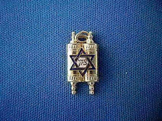 Picture of #G314 Enameled Torah Pendant