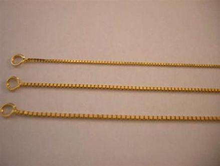 Picture of #GMEDBOX 14K Yellow Gold Medium Box Chain