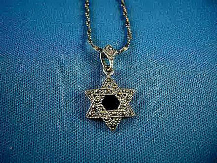 Picture of #S726 Marcasite Star of David