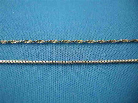 Picture of Sterling Silver Antique Twist Chain