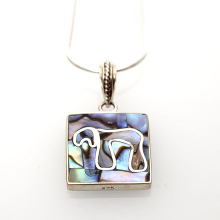Picture of #B526-A Abalone and Sterling Silver Chai