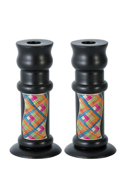 Picture of Reed Sea Shabbat Candlesticks
