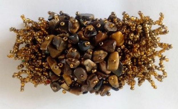 Picture of #B602-04 Gemstone and Glass Bead Bracelet