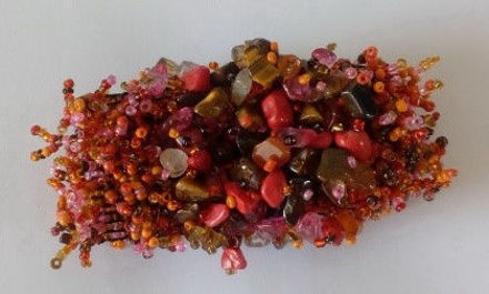 Picture of #B602-06 Gemstone and Glass Bead Bracelet