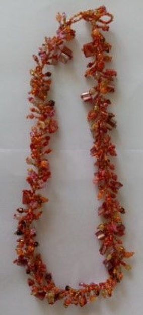 Picture of #B603-05 Gemstone Glass Bead Necklace