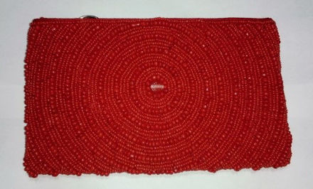 Picture of #B605-03 Beaded Purse Large