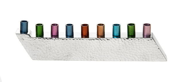 Picture of #210 Hammered with colorful candle holders