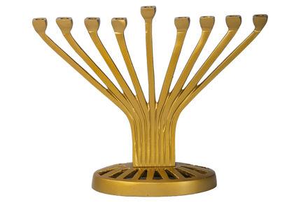 Picture of #220- Gold Metal Menorah