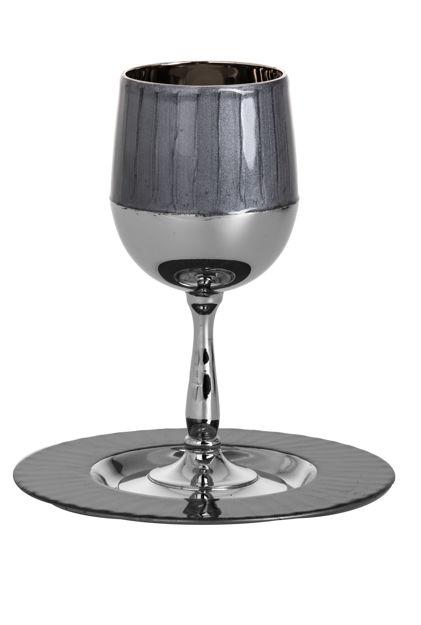 Picture of #823-GR Kiddush Cup Smoke-Dark Grey