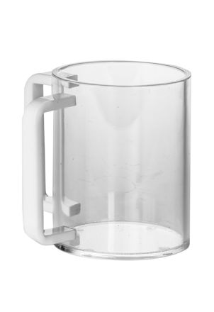 Picture of #7072-W Wash Cup Lucite White handles