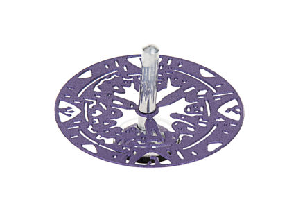 Picture of G200-PR Jerusalem Dreidel Purple Metal