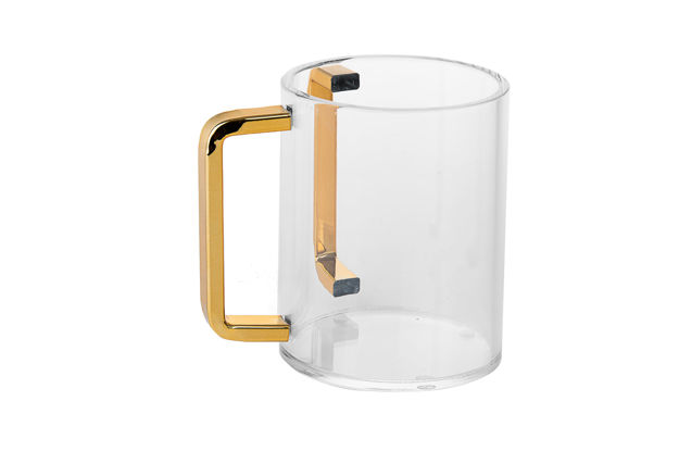 Picture of #7072-G Wash Cup Lucite Gold handles
