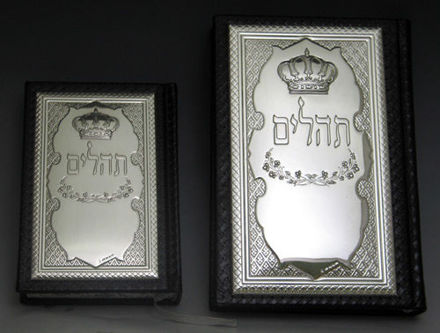 Picture of #9555 Artscroll Hebrew & English Medium Tehilim Leather & Sterling Silver