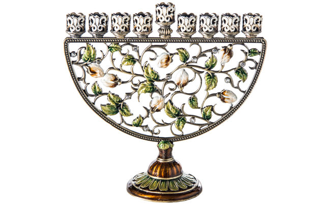 Picture of Jeweled Menorah Mulicolor