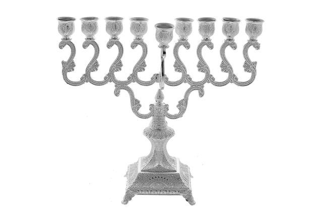Picture of #425 Silver Plated Menorah