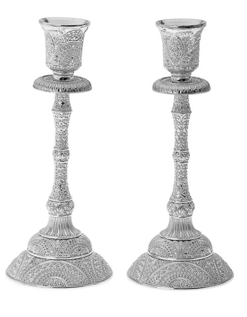 Picture of Crystal & silver plated candle stick