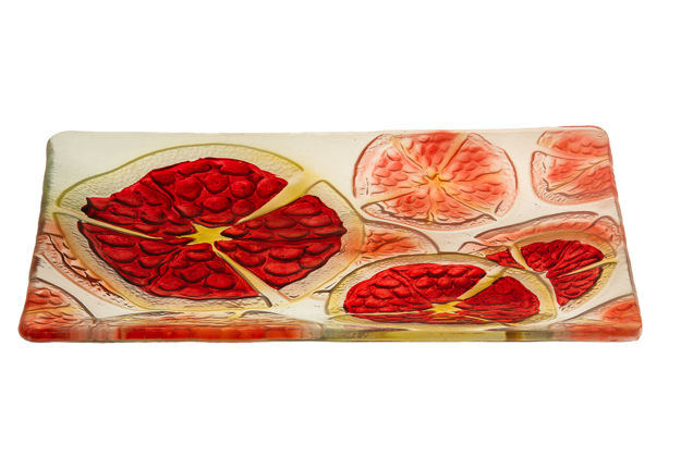 Picture of #826 Pomegranates Glass Platter