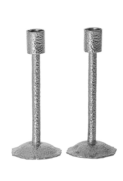 Picture of 108-S Hammered Silver Candle stick