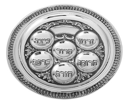 Picture of #17392-S Silver Plated Seder Plate Small