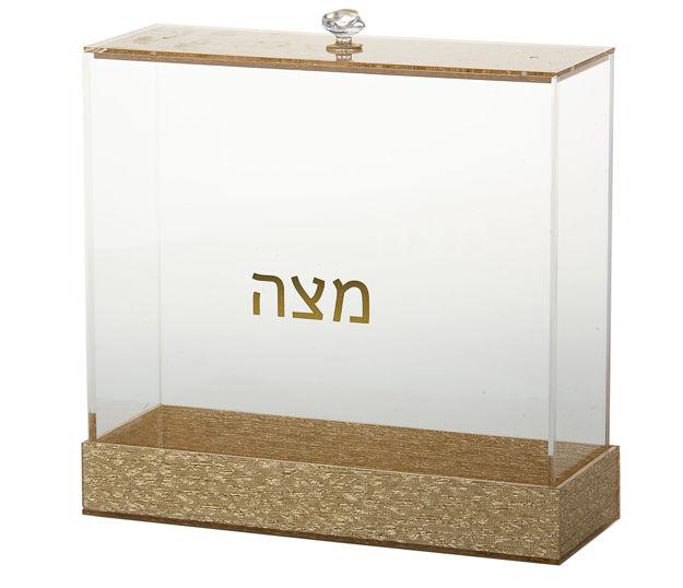 Picture of #1886-G Matzah holder Lucite Gold