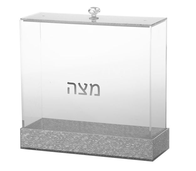 Picture of #1886-S Matzah Holder Silver Lucite