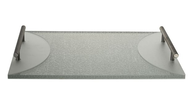 Picture of #1488 Challah Board Lucite Silver with handle