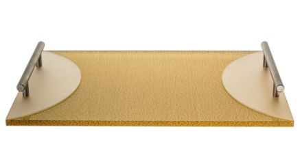 Picture of #1489 Challah board Lucite Gold with handle
