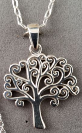 Picture of S677 High Polished Tree of Life Sterling Silver